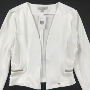 NWT Medium Open Front White Guess Knit Blazer
